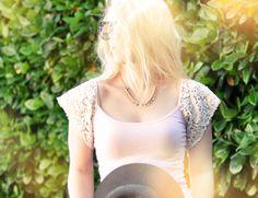 Easy DIY Lace Sleeve Tank Top | ...love Maegan