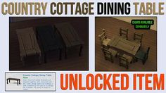 Mod The Sims - Country Cottage Dining Table