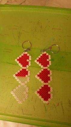 8 bit hearts perler Keychain $3 each