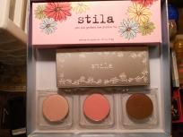 BRAND NEW IN BOX, NEVER TESTED OR USED!  $16     Stila PON PON GERBERA Eye Shadow Trio      45 DOLLAR retail valuetotal net weight .27oz/7.8gThis is a limited edition palette which was inspired by the fresh bright colors of Gerbera daisies.Light PinkBrilliant Pi...