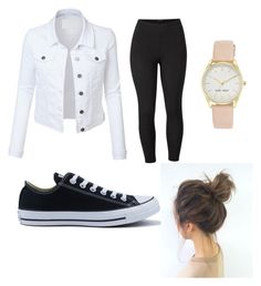 """""""Spring is here 🚩"""" by missavab on Polyvore featuring LE3NO, Venus, Converse, Nine West and plus size clothing"""