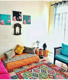 68 Trendy living room decor diy ideas money The Effective Pictures We Offer Indian Room Decor, Decor, Apartment Decor, Indian Living Rooms, Indian Bedroom Decor, Indian Home Decor, Floor Seating Living Room, Diy Living Room Decor, Moroccan Decor Living Room