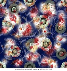 Find Floral seamless watercolor pattern stock illustrations and royalty free photos in HD. Explore millions of stock photos, images, illustrations, and vectors in the Shutterstock creative collection. of new pictures added daily. Watercolor Pattern, Abstract Pattern, Watercolor Flowers, Fabric Print Design, Textile Design, Textures Patterns, Royalty Free Photos, Flower Patterns, Printing On Fabric