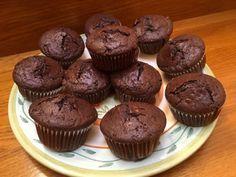 Kakaóscsokis muffin! Sokszor sütöm, valahogy a recept nem került fel a weboldalra a receptek közé, Muffins, Paleo, Cooking, Breakfast, Food, Cupcake, Google, Candy, Food Food
