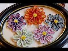Quilling comb tutorial - Two tone of paper