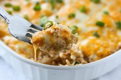 Easy Chicken Green Chili Casserole