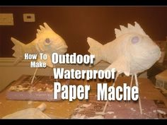 DIY Waterproof Paper Mache for outdoor weather resistant crafts