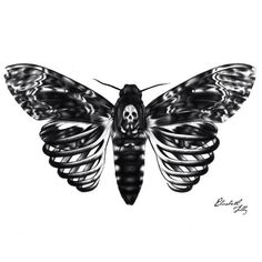 Skeleton Moth Art Print by Elizabeth Tilly Tattoos Masculinas, 1 Tattoo, Chest Tattoo, Piercing Tattoo, Piercings, Black Tattoos, Body Art Tattoos, Sleeve Tattoos, Cool Tattoos