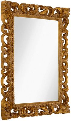 Hamilton Hills Antique Gold Ornate Baroque Frame Mirror Baroque Mirror, Wall Mounted Mirror, Frames On Wall, Old World, Antique Silver, Hamilton, Antiques, Glass, Elegant