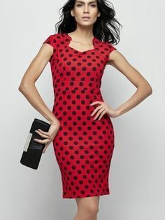 Sexy Polka Dot Zips Bodycon-dress - fashionmia.com