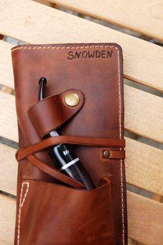 Personalisierte Leder Pipe & Tabakbeutel Leather Pipe Roll