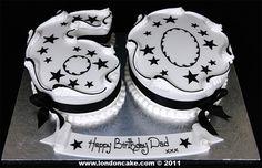 3861 Number 60 birthday cake with sugarpaste stars.jpg (479×309)