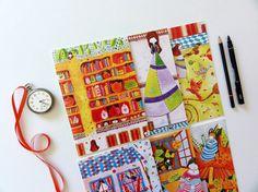 Alice in Wonderland A5 Greeting Card Set  Part by BeijosdeAlgodao