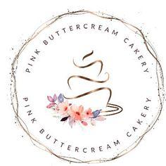 Logo Design Rose Gold cake logo Bakery logo Cake Logo Design Cute Design Disney Design For Teens Calligraphy Logo, Modern Calligraphy, Logo Boulangerie, Design Boutique, Cake Logo Design, Invitation Fonts, Nail Logo, Web Design, Photography Logos