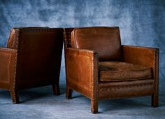 "Ralph Lauren Home Archives, ""RLH Collection"", Leather Chairs, 2012; ""Inspired by one-of-a-kind pieces, this collection is defined by period construction details and authentic craftsmanship that embody the spirit of artisanal luxury"""