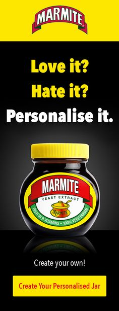 My personalised jars are back! Make it yours and stick your name on a jar of the good stuff. You know it makes sense.