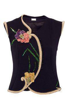 Floral Embroidered Textured Vest by ALEXIS MABILLE for Preorder on Moda Operandi