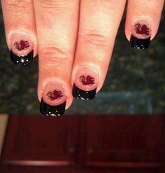 Carolina Gamecocks Nails
