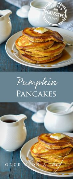 Need an easy recipe for Pumpkin Pancakes? These ones are delicious for breakfast, brunch or even as a snack. Add a drizzle of maple syrup to top off your mornings! Healthy Breakfast Recipes, Brunch Recipes, Pancake Recipes, Breakfast Ideas, Morning Breakfast, Brunch Dishes, Vegetarian Breakfast, Vegetarian Dinners, Waffle Recipes