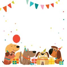Delighted Dogs - Free Printable Birthday Invitation Template | Greetings Island