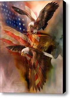 He Cries for Freedom Echoes on Ridges Low and High Where Eagles Dare to fly. Freedom Ridge prose by Carol Cavalaris This painting is from the 'Spirit Of The Wild - Patriotic series of Art By Artist Carol Cavalaris. Patriotic Pictures, Eagle Pictures, Cool Pictures, American Indian Art, Native American Art, American Flag Art, Graffiti Kunst, Where Eagles Dare, Eagle Art