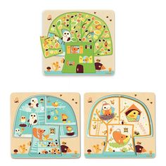 You'd be hard pressed to find a wheel in this puzzle. I can't even pretend that's it has anything to do with cars or boys wither for that matter. It's simply adorable. A Djeco wooden puzzle that is adorable - that is enough for me!  This puzzle has three layers and as you remove each layer you see more of the forrest animals. Ah...see there we go it's about the animals. We have an animals theme on the website. Animals and quality and beautiful! http://www.lucaslovescars.com.au
