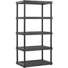 Shop Staples for Shelves, 5 Tier Heavy Duty Plastic Shelving - Black Plastic Shelving Units, Garage Shelving Units, Utility Shelves, Bookcase Storage, Storage Rack, Storage Boxes, Aquaponics Diy, Tidy Up, Paint Cans
