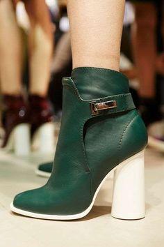 Cedric Charlier's single-buckle heeled booties - Mark Leibowitz