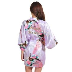 RB031 Plus Size Kimono Robe Sleepwear Bride Robe Kimono Dressing Gowns For Women  Home Bridesmaid Robe 91d5bc58ce69