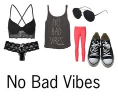 No Bad Vibes by dream-catcher-316 on Polyvore featuring Billabong, 7 For All Mankind, Topshop, Eberjey and Converse