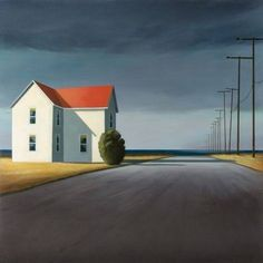 Risultati immagini per jamie perry paintings Abstract Landscape, Landscape Paintings, Edward Hopper Paintings, Arte Peculiar, Painting Inspiration, Illustration Art, Illustrations, Cool Art, Concept Art