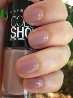 """The perfect nude nail polish.Maybelline Color Show 301-""""Love this sweater"""""""
