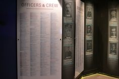 Passenger and crew list The names of all passengers and crew on Titanic are listed. Those in blue did not survive.