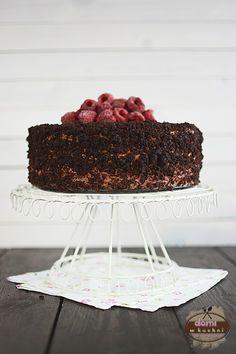 Tort malinowo-czekoladowy | Domi w kuchni Sweet Recipes, Tiramisu, Cooking Recipes, Ethnic Recipes, Food, Chef Recipes, Essen, Meals, Eten