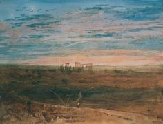 The artwork Stonehenge - Joseph Mallord William Turner we deliver as art print on canvas, poster, plate or finest hand made paper. You define the size yourself. Joseph Mallord William Turner, Covent Garden, Stonehenge, Turner Watercolors, Turner Painting, Watercolor Landscape Paintings, Oil Paintings, English Artists, Famous Artists