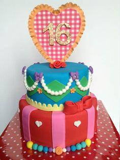 Sweet Sixteen Taart Diy Birthday Cake, Birthday Ideas, Fairy Cakes, Eclairs, Cupcake Cakes, Cupcakes, Sweet Sixteen, Cake Art, How To Make Cake