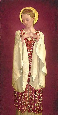 """""""saint with white sleeves"""" by james christensen"""