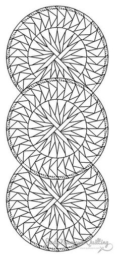 Seasonal Table Runner Line Drawing, Quiltworx.com, Made by Quiltworx.com.