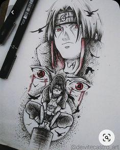 Naruto Sketch Drawing, Naruto Drawings, Naruto Art, Anime Sketch, Anime Naruto, Dr Tattoo, Manga Tattoo, Naruto Tattoo, Full Tattoo
