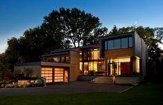 House Incorporating Distinctive Blue Zinc Cladding by Altius Architecture