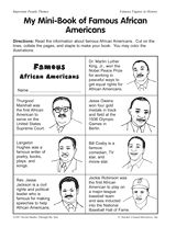Black history worksheets 2nd grade