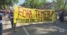 Manifestação contra governo Temer ocorre durante desfile cívico no AC