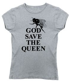 Women's God Save The Queen Bee Save The Bees Bee T-Shirt - Juniors Fit #beekeeping