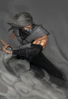 Smoke. The coolest combatant behind Scorpion. And Sub-Zero. and Kitana. Actually, lets just say he's cool.