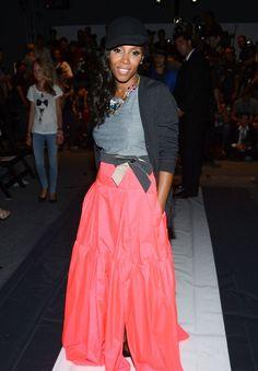 65d5ab74525 June Ambrose at New York Fashion Week