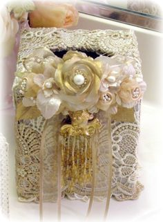 Romantic Victorian Home Collection: Venetian Cherub Collection....Tissue Box Cover