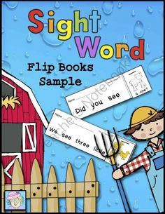 Sight Word Flip Books Sample from TeacherTam on TeachersNotebook.com -  (6 pages)  - FREE!  This sample set of 6 sight word flip books is just right for beginning readers. Like the larger set, it covers words from the pre-primer and primer Dolch sight word lists. Each flip book requires students to read the sight word sentence 5 times.