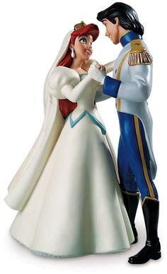 Princess Figurines   ... Disney Characters Walt Disney Figurines - Princess Ariel & Prince Eric