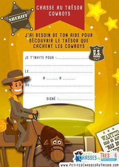 invitation chasse au trésor façon cowboy