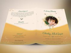 """Yellow Princess Funeral Program Publisher Template is for Memorial or Home Going Services for girls. Designed specifically for funerals, but can be edited for other events. The files are conveniently easy to use. All you need to do is, """"Edit, Save, Print""""  This is a Microsoft Publisher Template (.pub) designed by Godserv to be edited with Publisher 7 and higher. Once you have downloaded this template, use Microsoft Publisher 7+ to make edits to this template.  WHAT""""S INCLUDED 1- 11""""x8.5""""…"""